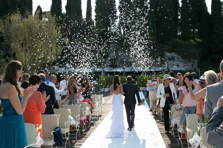 Wedding ceremony at Villa Cortine Palace, Lake Garda
