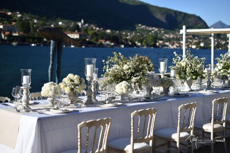 Wedding reception at Lido di Lenno, Lake Como