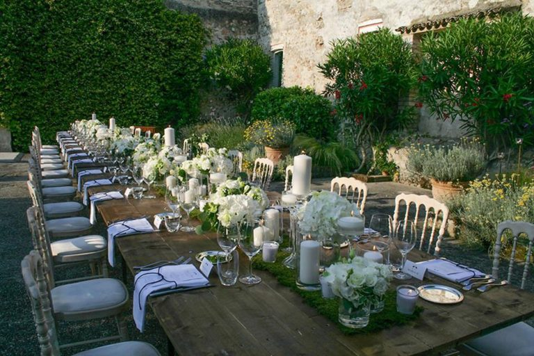 A wedding breakfast at the Convent, Lake Garda, Italy
