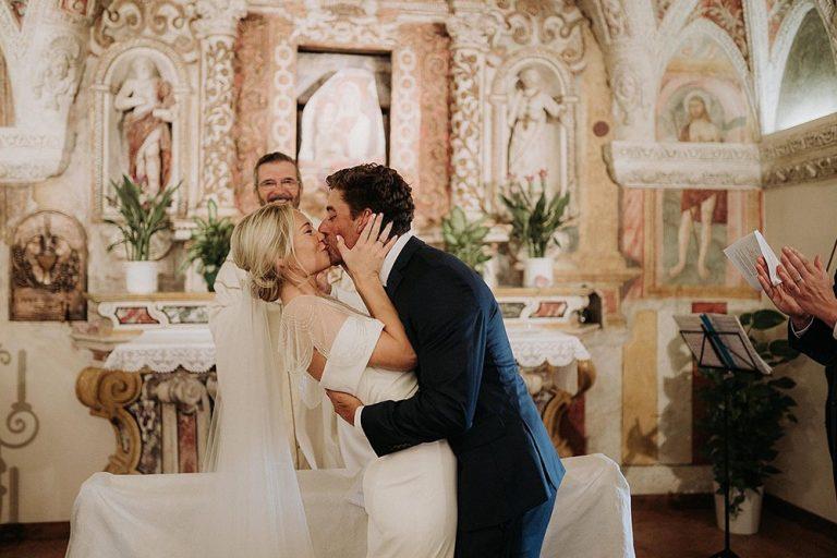 'You may kiss the bride' Sant Anna, Lake Garda