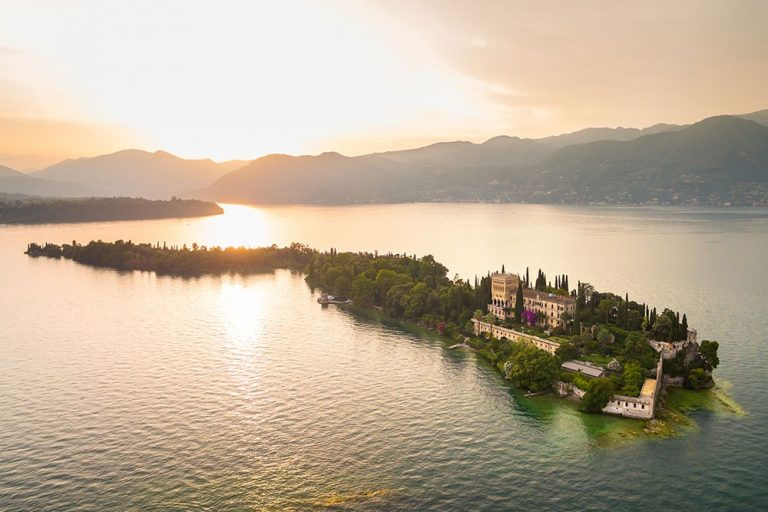 Isola del Garda at sunset