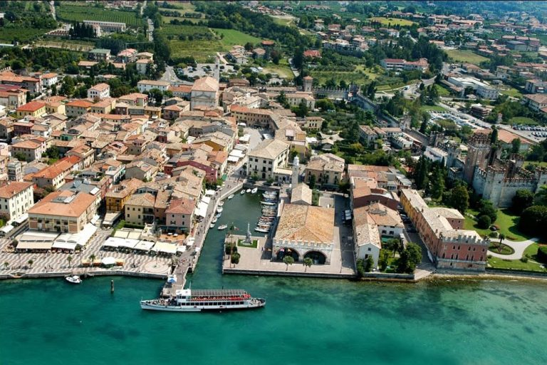 Aerial view of Dogana Veneta, Lake Garda
