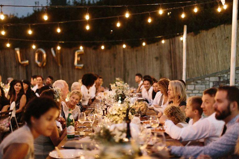 Wedding reception at Lido di Lenno, Lake Como