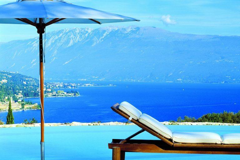 View from the pool at Villa Arcadio, Lake Garda