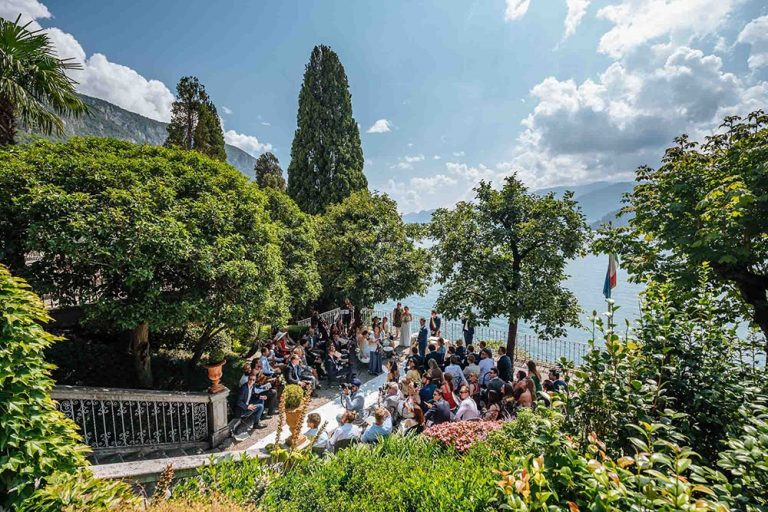 A Wedding party at Villa Cipressi, Lake Como