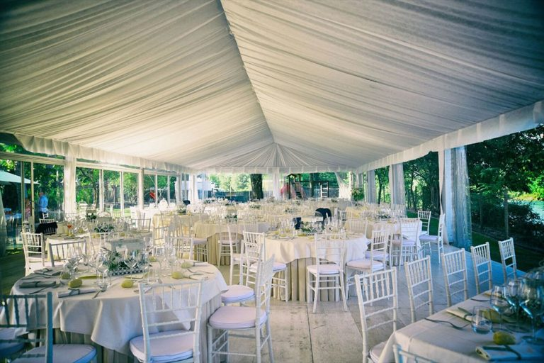 A Wedding Marquee at Villa Dei Mulini, Lake Garda