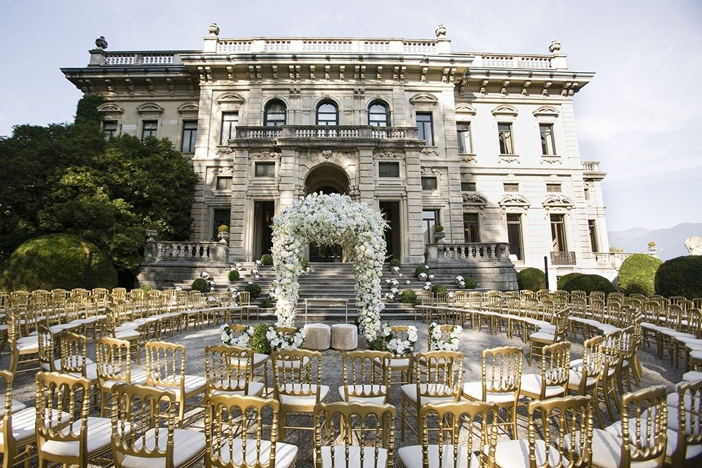 Wedding Ceremony at Villa Erba