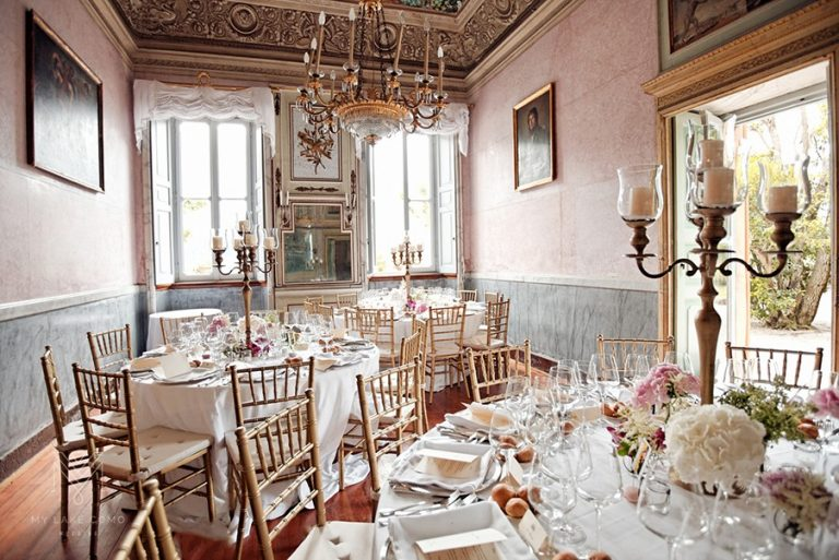 Inside Villa Pizzo - Set out for a wedding reception