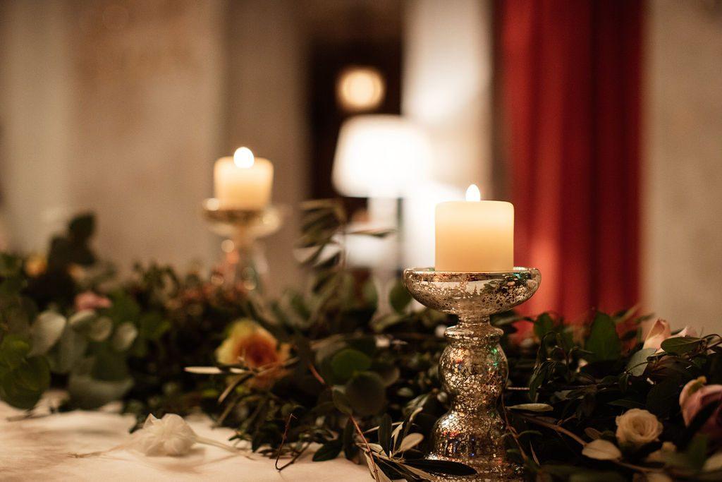 Wedding candles lake Como