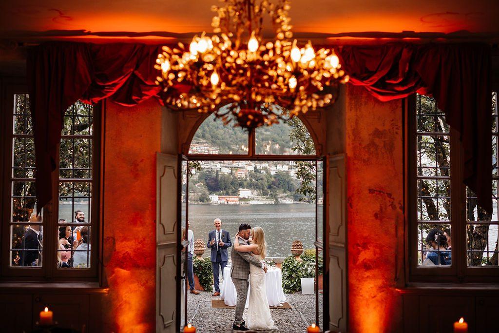 Wedding first dance Lake Como Italy