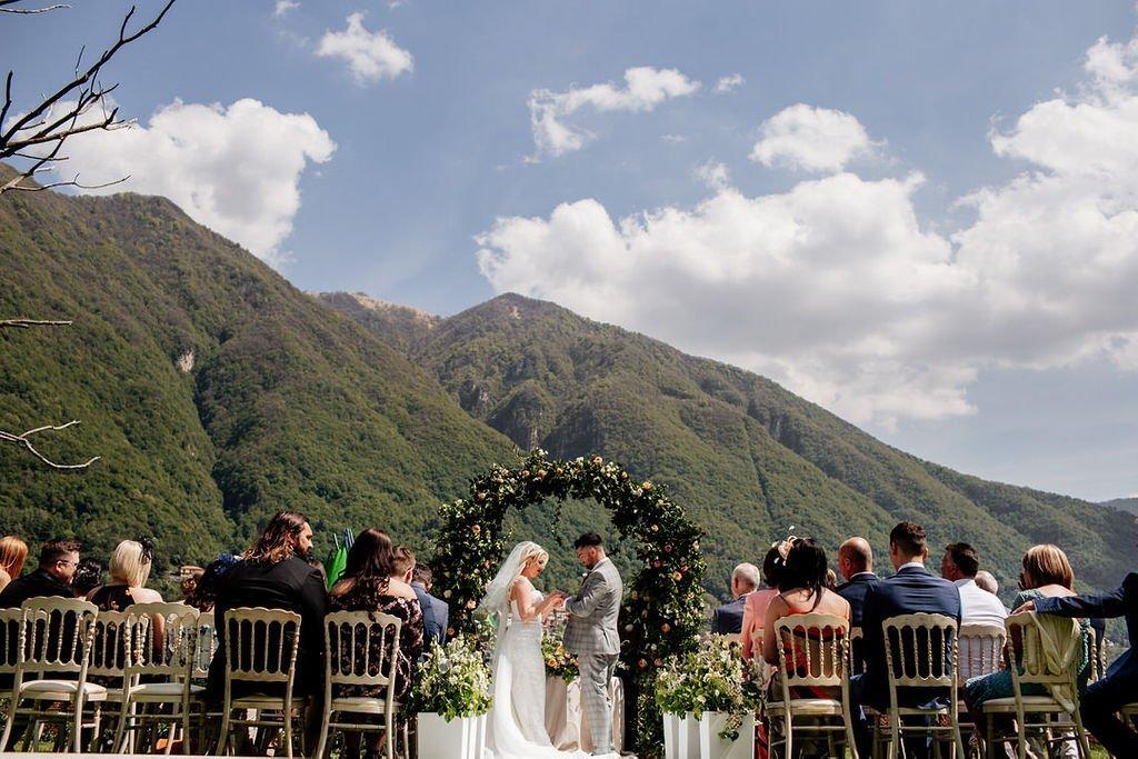 Wedding Ceremony at Villa Teodolinda