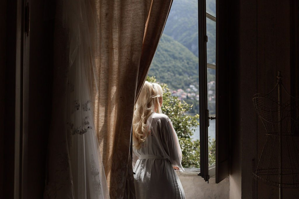 Bride at Villa Teodolinda Laglio